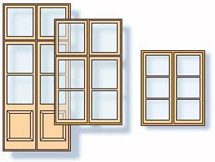 Detailzeichnung holzfenster
